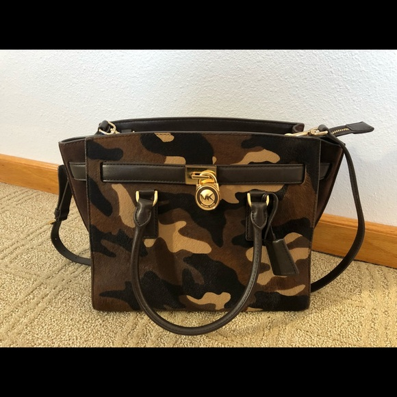 Michael Kors Hamilton Camo bag